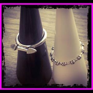 🆕 Sterling Silver Bone & Crossbones Rings